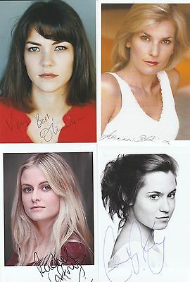 4 Actresses Undedicated Signed Photo
