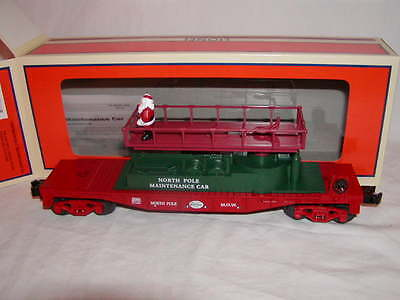 Lionel 6-26683 Christmas Santa North Pole Track Maintenance Car O 027 MIB 2012