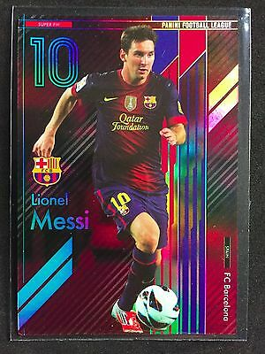 2013 Panini Football League PFL 01 Lionel Messi Super FW Refractor card Rare