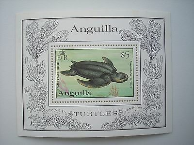 Anguilla 1983 Endangered Turtles Min/sheet Mnh Sgms564  Cat £22