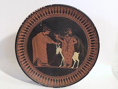 arb11 Ancient Greek reproduction POTTERY HAND PAINTED WALL PLATE - DIONYSUS