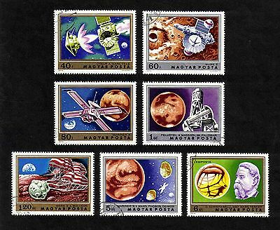 Hungary 1974 Space/ Mars Research complete set of 7 values (SG 2867-2873) used
