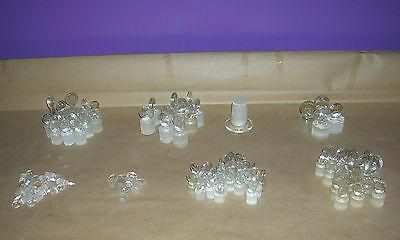 Lab Glass Mixed Lot #28 - Solid Glass Stoppers Lot of (92)