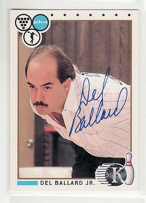 Del Ballard Jr 1990 King Pins #56 Autographed Card