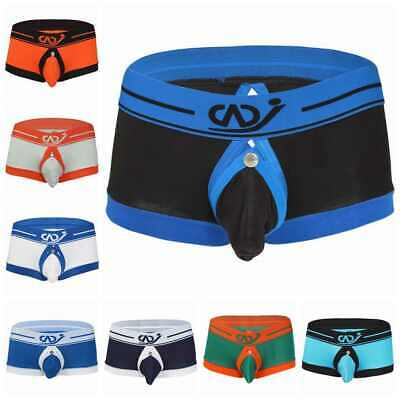 Sexy Men Underwear Boxer Brief Jockstrap Lingerie G-String Short Thong Back Hole