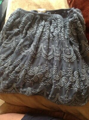 Girls Next Age 13 Grey Lace Lined Skirt