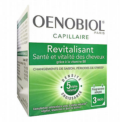 OENOBIOL Revitalizing/Revitalisant Hair Care 180 Caps - 3 month supply