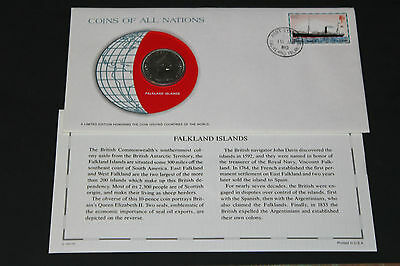 Falkland Islands Coins Of All Nations 1980 10 Pence  Coin Unc