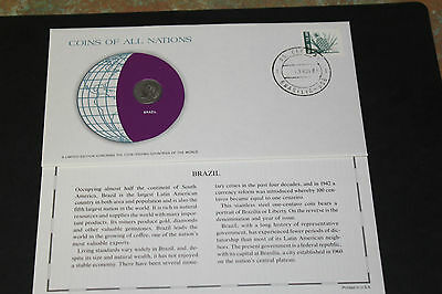 Brazil Coins Of All Nations 1969 1 Centavo Coin Unc