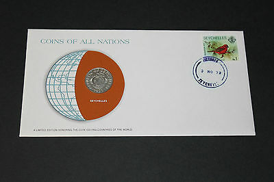 Seychelles Coins Of All Nations 1977 50 Cent Coin Unc