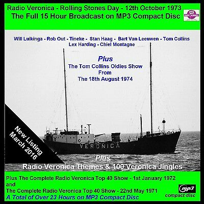 Pirate Radio Veronica Rolling Stones Day Complete Now on Car Friendly MP3 Disc
