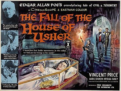 """Fall of the house of Usher 16"""" x 12"""" Repro Movie Poster Photograph"""
