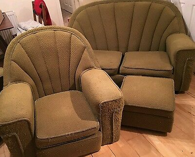 Vintage Art Deco Sofa and Chairs 1930s