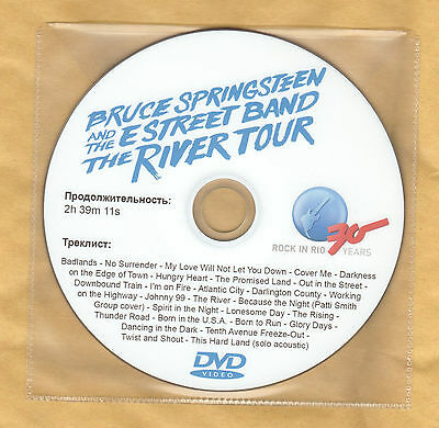 Bruce Springsteen Live River Tour 2016 Promo DVD Promotional Video no Tickets