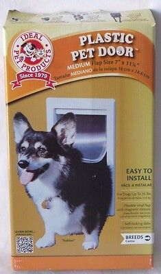 "Ideal Pet Products 7"" x 11.25-Inch Original Pet Door with Telescoping Frame, MED"