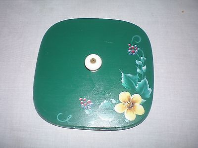 Robinwood Hand Painted Wooden Lid fits Longaberger Small Spoon Basket