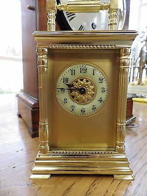 French Carriage Clock Fully Restored Case & Movement Rare Case Style