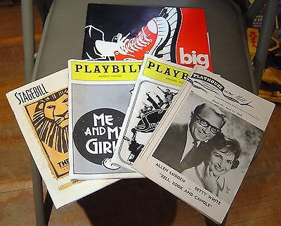 Vintage Playbills Lot- Me And My Girl, The Lion King And More