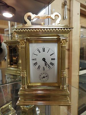 Petite Sonnerie French Carriage Clock Fully Restored Mega Heavy Very rare Clock