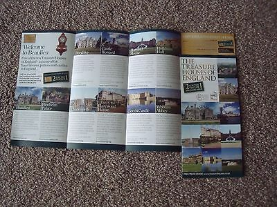 LEEDS CASTLE CHATSWORTH BLENHEIM PALACE BURGHLEY 2 FOR 1 Free 2016 X 4 Tickets