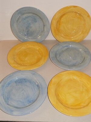 6 x Poole Pottery Dinner Plates Fresco by Rachel Barker