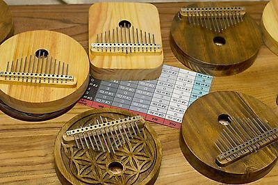Acoustic Kalimba, 15 key, Proper harmonic design,Mbira,Thumb Piano,Dark Wood