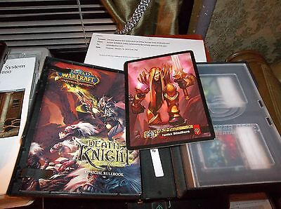 World of WarCraft Death Knight Deluxe Starter CCG w/ Oversized Card/Case GREAT!!