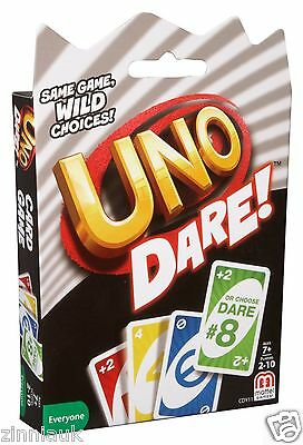 Hilarious Dare Uno Dare Card Game Action 16 Dares On Each Card Mattel CDY11