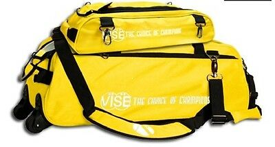 Vise 3 Ball Tote Bowling Bag with shoe pocket Yellow