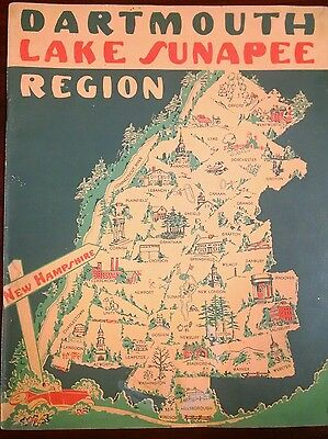 Vintage New Hampshire Dartmouth Lake Sunapee Region Recreation Guide