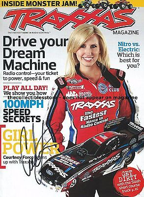 Courtney Force Autographed Signed Traxxas Racing Nhra Funny Car Photo Magazine