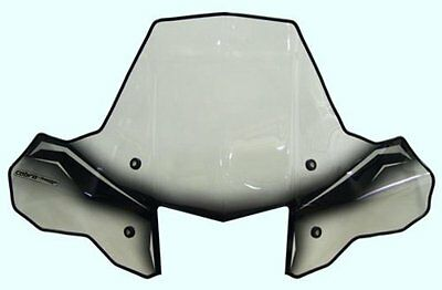 PowerMadd 24572 ProTEK Windshield for ATV Rapid Release Mnt Clear black graphic