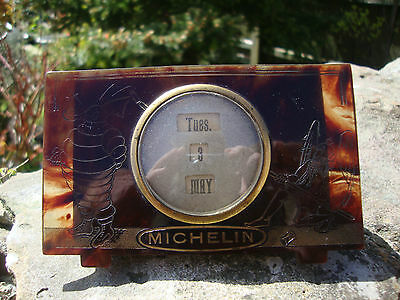 RARE Vintage c.1920's Michelin Perpetual Calender - Tortoise Shell Celluloid