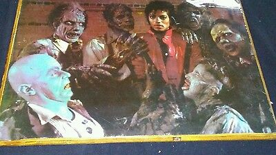 Vintage Michael Jackson Zombie Large Mounted Poster ~ Thriller~~  On Wood Plaque