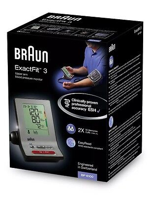 Braun ExactFit 3 BP6000 Automatic Upper Arm Blood Pressure Monitor with 2 Cuf...