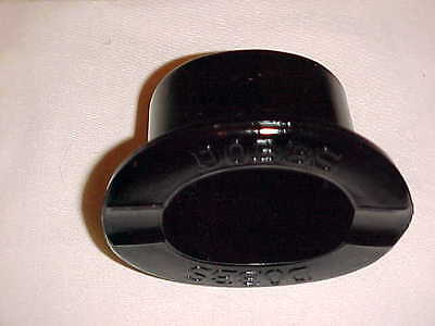 Vintage Dobbs - Fifth Avenue, N.y. Black Glass Top Hat Advertising Ashtray