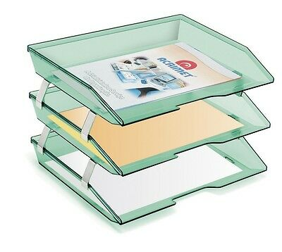 Tray Letter Storage Desk File Document Paper Office School Facility Triple 3Tier