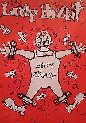 "MUSIC POSTER~Limp Bizkit 1990's Orange Clown Help Me 23x33"" Original UK Import~"