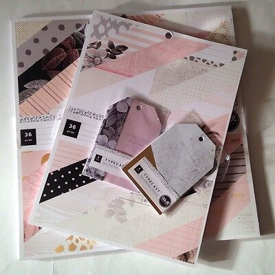 Typecast Scrapbooking Paper Pads and Tags