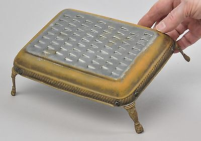 Food Grater Footed Brass Cushion Unique Vintage Kitchenware Collectible