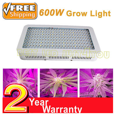 600W LED Grow Light Kit Full Spectrum Plant Lamp Panel Greenhouse Hydroponic Veg