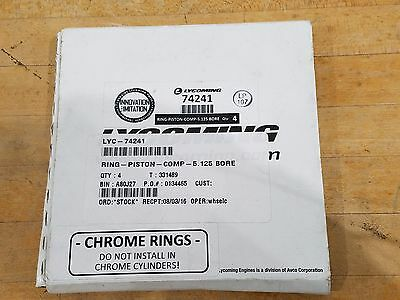 Lycoming Compression Piston Ring 74241 5.125 Bore QTY 4, NEW!!!