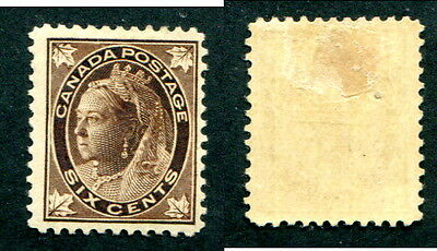 Mint Canada 6 Cent Queen Victoria Leaf Stamp #71 (Lot #12221)
