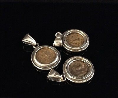 Ancient Widows Mite Necklace Pendants In Modern .925 Sterling Silver