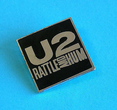 U2 RATTLE AND HUM ~ Enamelled Metal Lapel Pin/Badge ~ 1988 ~ Excellent Condition