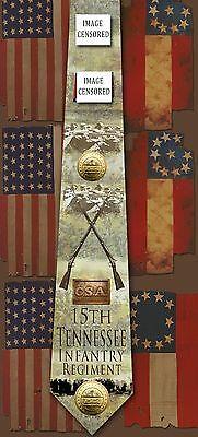 New 15th Tennessee Infantry Regiment poly satin neck tie