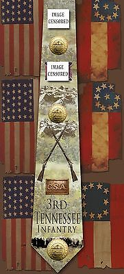 New 3rd Tennessee Infantry poly satin neck tie