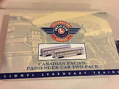 Lionel 6-39106 Canadian Pacific Streamlined Passenger Car 2 Pack NIB