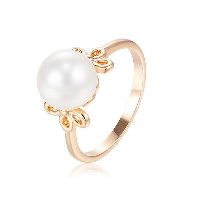 Kids jewelry Child Girls 14k Gold Filled Princess Pearl Ring Size 3.5 Wholesale