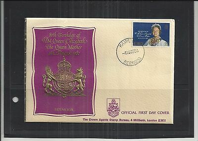 Bermuda 1980 Queen Mothers 80th Birthday Embossed First Day Cover Unaddressed